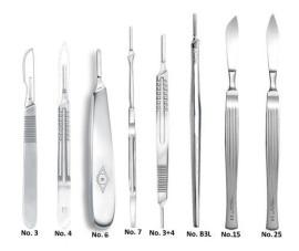 scalpels